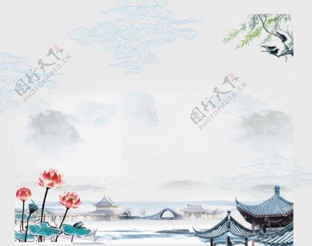 江南水墨风景