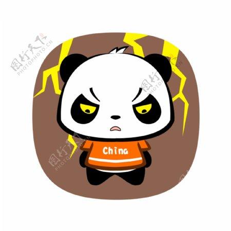 熊猫生气表情包设计