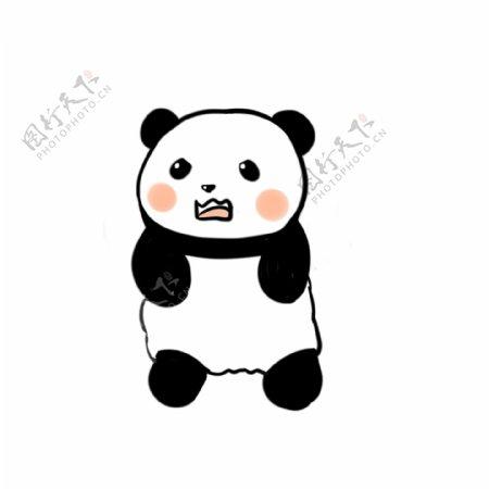 原创可爱熊猫生气表情包素材