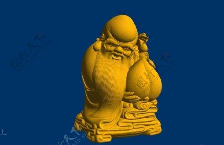 老寿星stl圆雕图