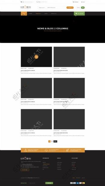 简洁的企业购物商城网站模板之博客介绍