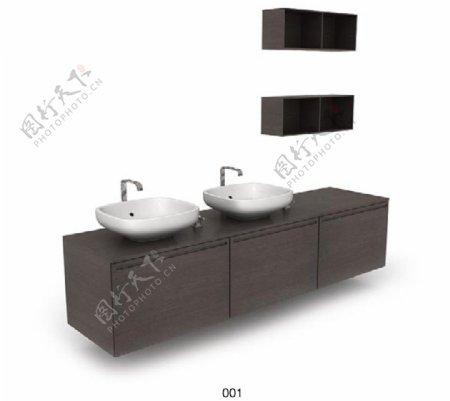 浴室橱柜3d模型素材