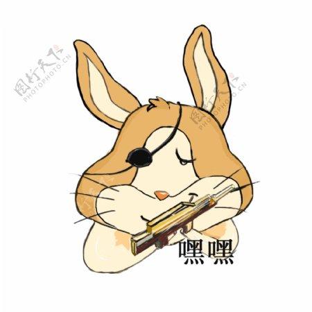 兔子不是秃子表情包日常