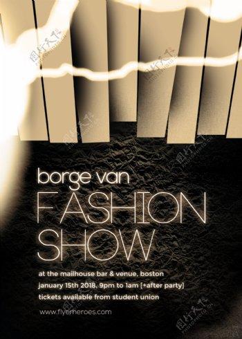 fashion国外创意欧美风酒吧宣传海报