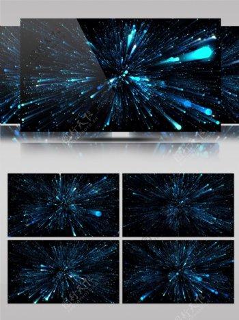 科技荧光粒子流星雨唯美舞台背景