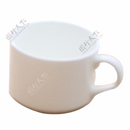 实拍透明纯白色水杯