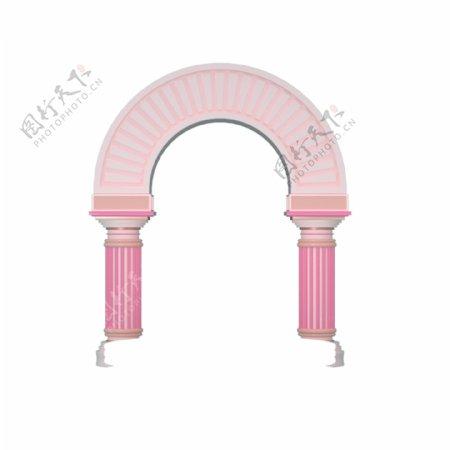卡通粉色拱形门下载