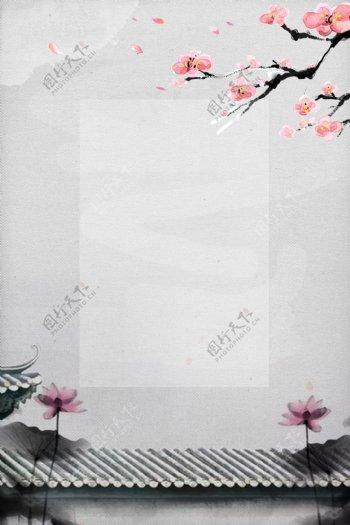 中国风桃花背景模板