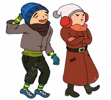 冬天来了惹女朋友生气