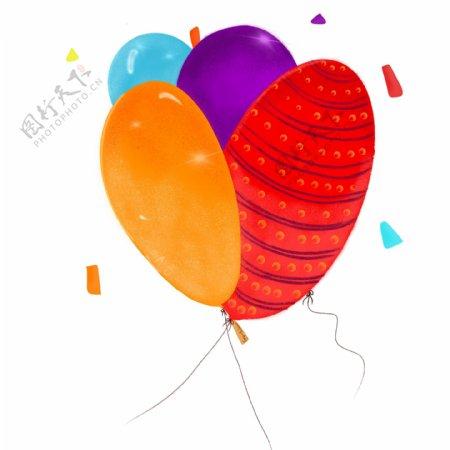 生气庆祝装饰派对可爱条纹大气球