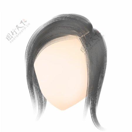 黑色齐耳短发