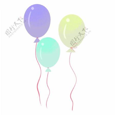 六一儿童节彩色卡通气球手绘