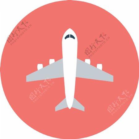 扁平飞机app图标