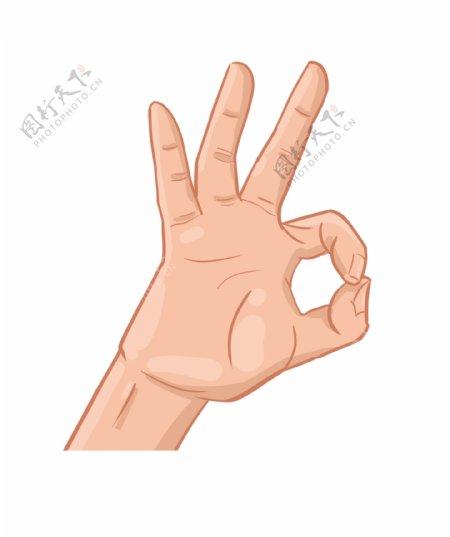 立体OK手势图案插图