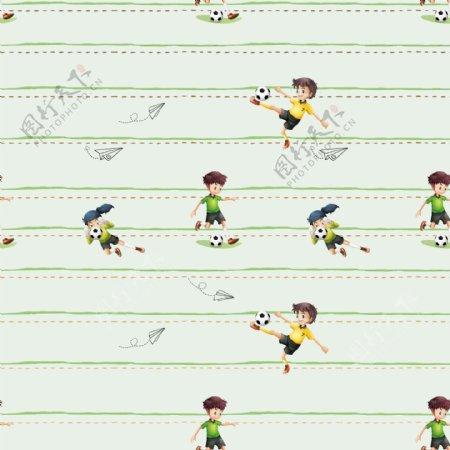 儿童花型墙纸图案