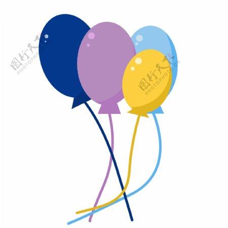 节日庆祝彩色气球