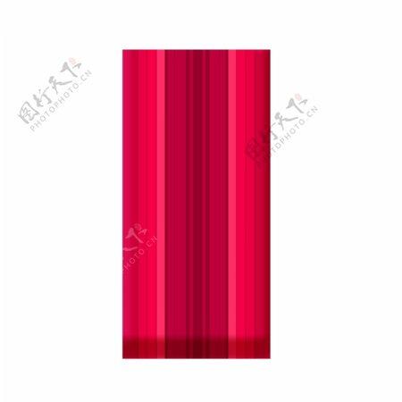 红色方形图案