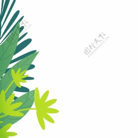 卡通植物叶子装饰免扣图