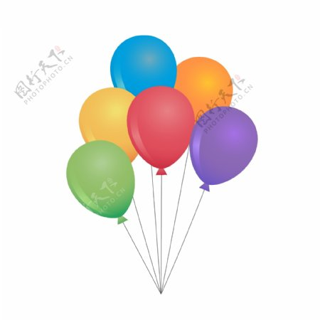 儿童节卡通气球元素