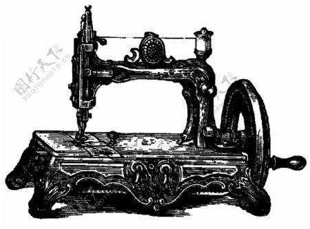 缝纫机素材PNG透明底