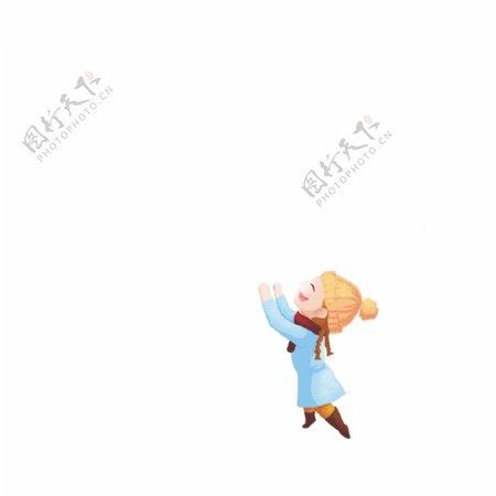 手绘插画国庆红色气球gif动态图人物