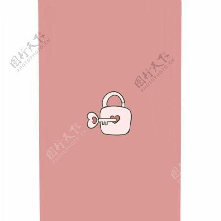 原创可爱钥匙锁壁纸素材GIF