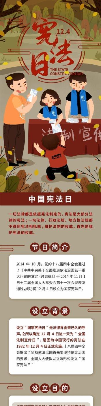 中国宪法日普及法律信息长图