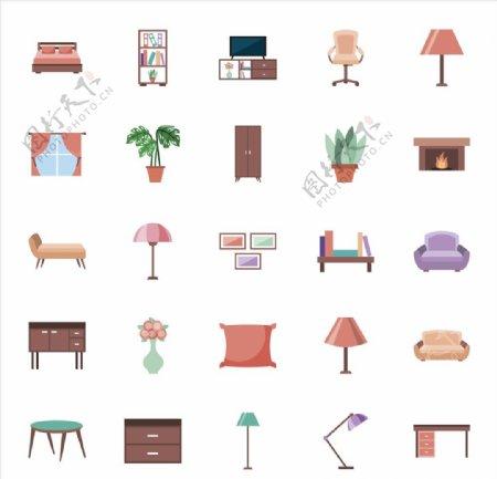 家具图表ICON设计