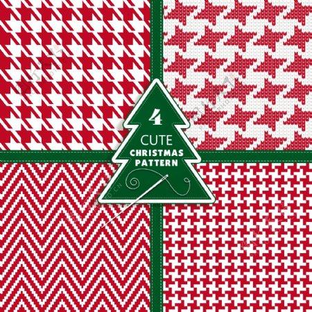 四个可爱的圣诞图案