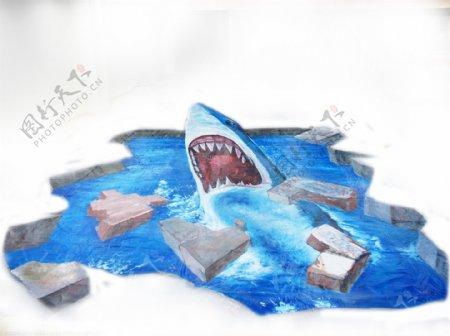 3D手绘鲨鱼