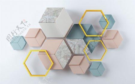 立体正方形图案
