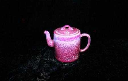 钧瓷瓷器茶壶茶具