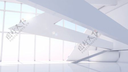 大气建筑空间背景