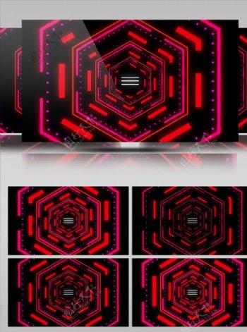 红色几何线条移动大屏幕舞台背景