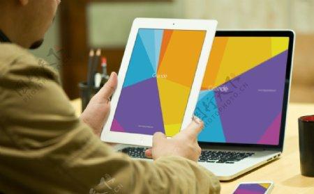 电脑ipad样机ps贴图素材