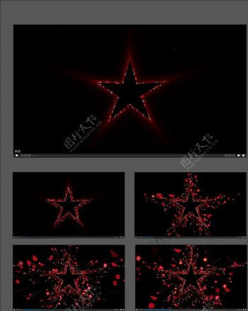 红星扩散视频素材