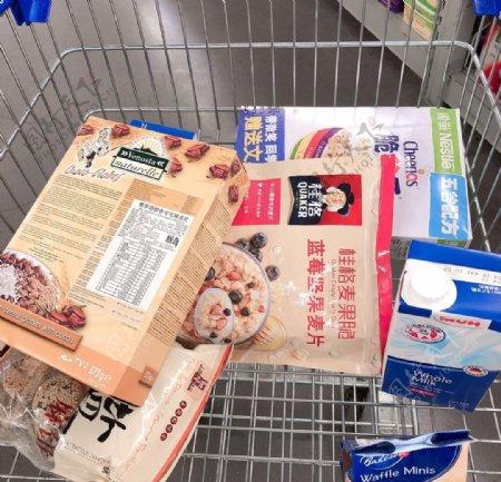 室内超市卖场购物采买摄影