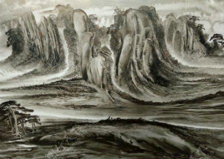 抽象水墨画