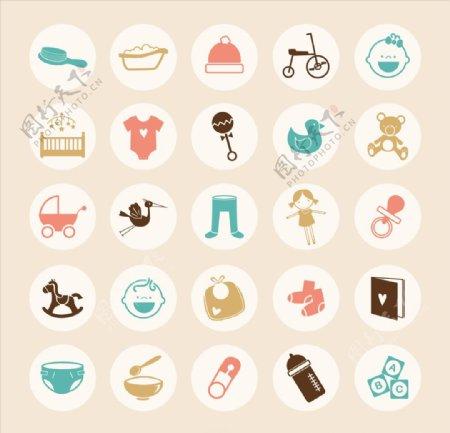 婴幼儿主题图标icon设计