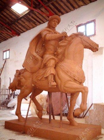 花木兰雕塑