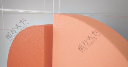 三维立体形状PPT背景壁纸