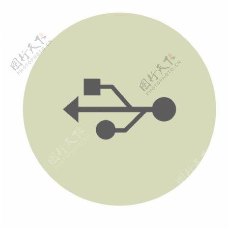USB接口UI标识标志