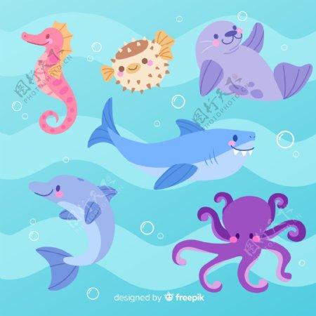 6款可爱海洋动物设计