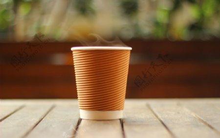 咖啡杯纸杯纸纹一次性杯子样机