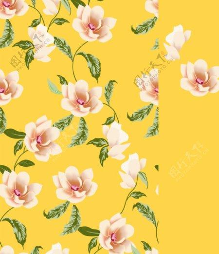 四方连续花卉