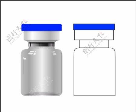 5毫升冻干粉瓶子矢量图