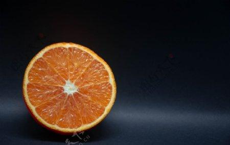 橙子纯色背景