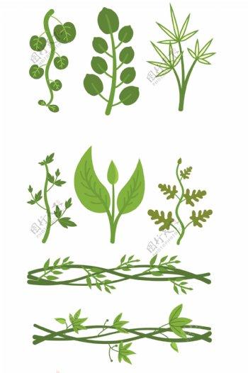 卡通藤蔓绿植素材