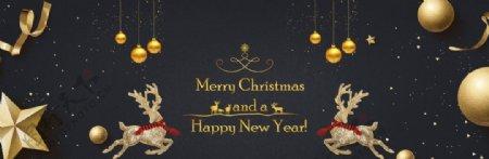 圣诞节节日庆祝麋鹿海报素材