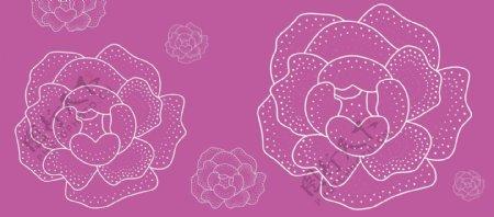 点状玫瑰花纹